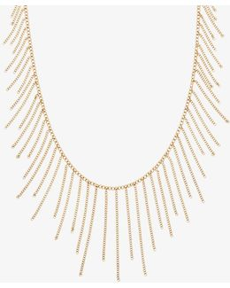 Gold-tone Chain Statement Necklace