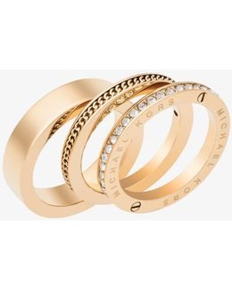 Gold-tone Twist Ring