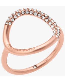 Rose Gold-tone Pave Ring