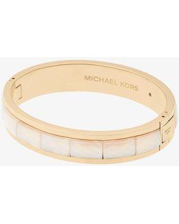 Gold-tone Faceted Bracelet