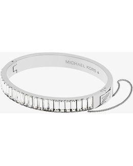 Silver-tone Baguette Bracelet