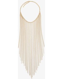 Gold-tone Fringed Necklace