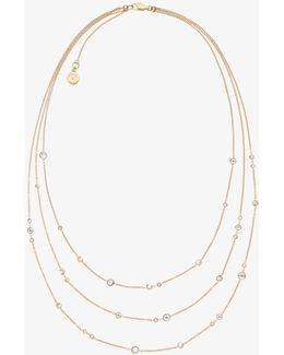 Gold-tone Multi-strand Station Necklace