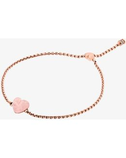 Rose Gold-tone Heart Slider Bracelet