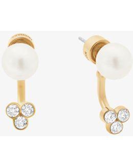 Gold-tone Crystal/glass Pearl Earrings