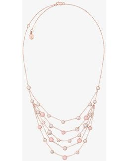 Rose Gold-tone Multi-strand Necklace