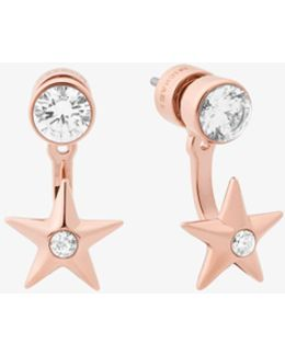 Rose Gold-tone Star Earrings