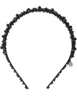 Fantine, Black Pearl Beads Headband