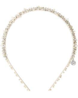 Fantine, Beige Pearl Beads Headband