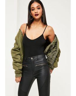 Cami Strap Bodysuit Black