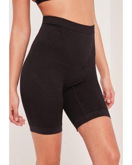 Black High Control Super Smoothing Push Up Shapewear Shorts