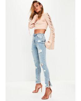 Blue Sinner Highwaisted Ripped Skinny Jeans