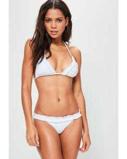 White Frill Hem Bikini Set