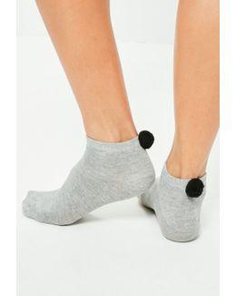 2 Pack Pom Pom Trainer Socks