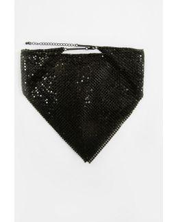 Black Chain Drape Necklace