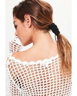 Black Pony Tail Hair Wrap
