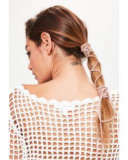 Beige Hair Tie