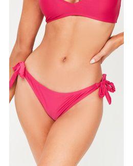 Pink Sash Side Bikini Bottoms - Mix&match
