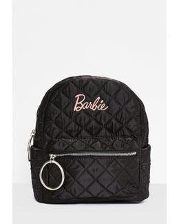 Barbie X Black Satin Embroidered Rucksack