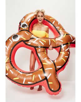 Brown Inflatable Pretzel Float