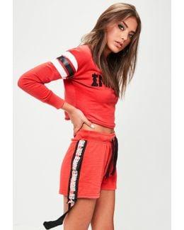 Red Extreme Slogan Shorts