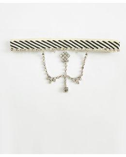 Black Diamante Drop Choker Necklace