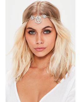 Gold Diamante Head Chain