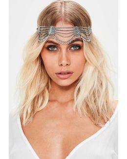Silver Boho Hair Chain
