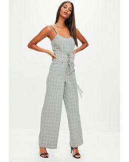 Grey Check Jumpsuit