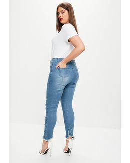 Plus Size Blue Ripped Jeans