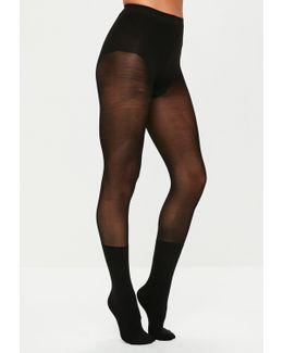 Black Ankle Detail Pantyhose