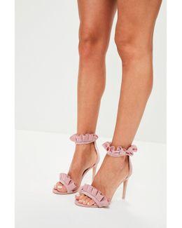 Pink Ruffle Strap Heels