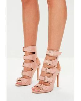 Pink Multi Buckle Heels
