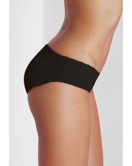 Black Padded Bum Pants