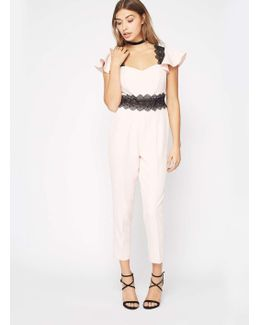 Petite Angel Sleeve Jumpsuit