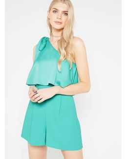 Premium One Shoulder Bow Playsuit