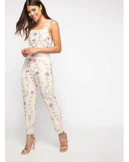 Premium Embroidered Floral Jumpsuit