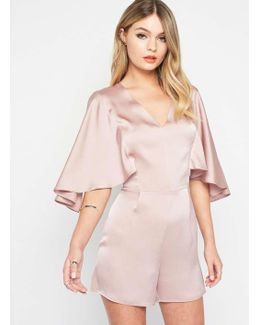 Mink Cape Playsuit