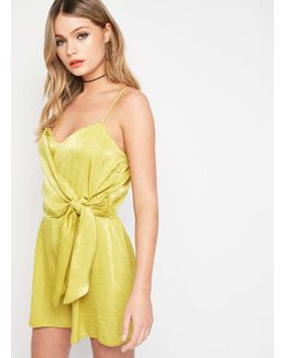 Chartreuse Drape Camisole Playsuit