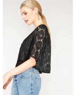 Premium Metallic Lace Cropped Jacket