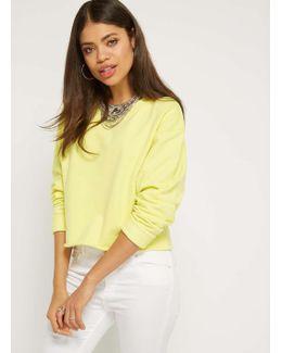 Yellow Crop Sweatshirt