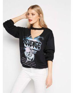Black Revenge Choker Sweatshirt
