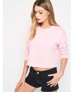 Petite Lace Back Sweatshirt