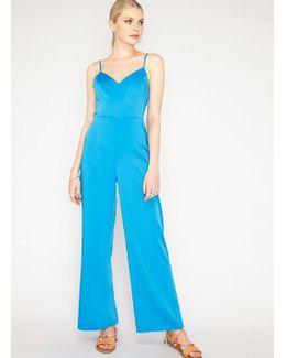 Blue Wide Leg Jumpsuit