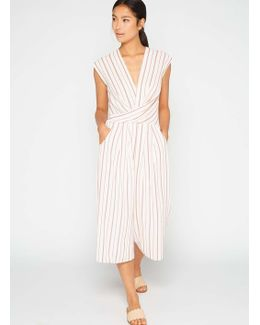 Red Stripe Culotte Jumpsuit