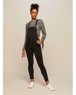 Black Skinny Fit Dungaree