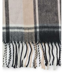 Pale Pink Check Scarf