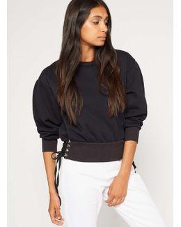 Petite Corset Side Sweatshirt