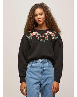 Petite Embroidered Sweatshirt