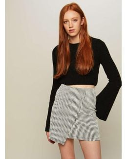 Monochrome Jacquard Wrap Skirt